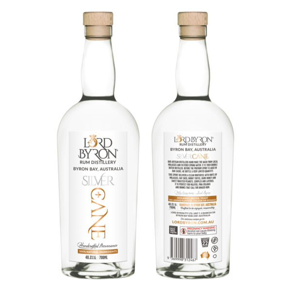 Lord Byron Distillery Silver Rhum Front and Back