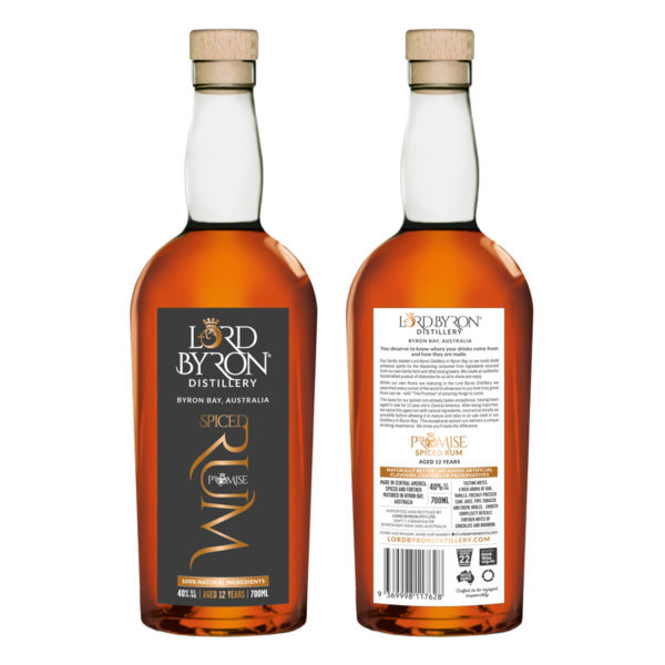 Lord Byron Distillery The Promise Rum Front and Back