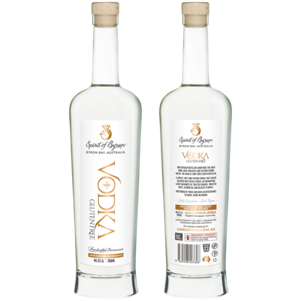 Lord Byron Distillery Vodka Front and Back