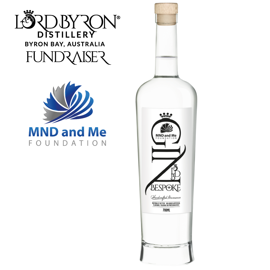 Lord Byron Distillery MND and Me Bespoke Gin