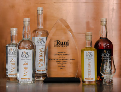Lord Byron Distillery Rum and The Environment Award