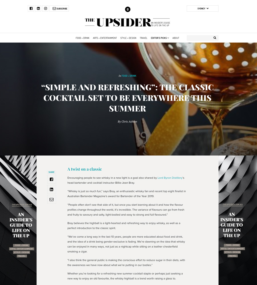 The Upsider Nov 2019 A Twist On A Classic