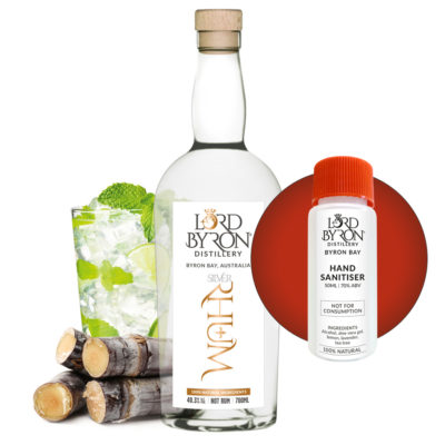 Lord Byron Distillery Silver Rhum - Free Sanitiser with every Spirit Purchase